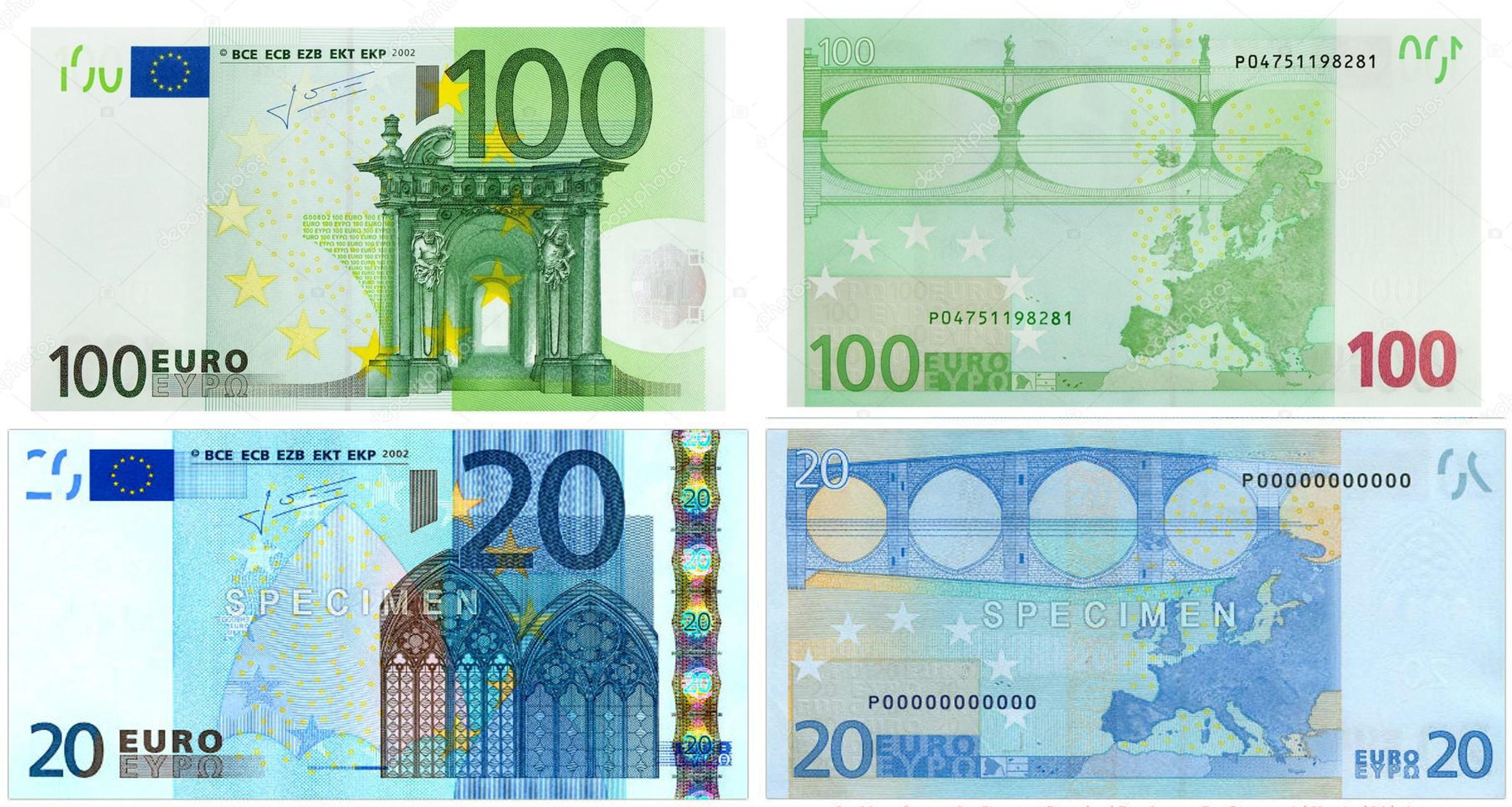 новые купюры 200 и 2000 рублей похожи на евро 1