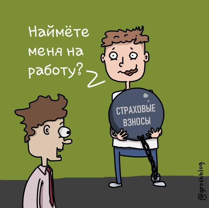 карикатура предприниматель грош журнал https://grosh-blog.ru/